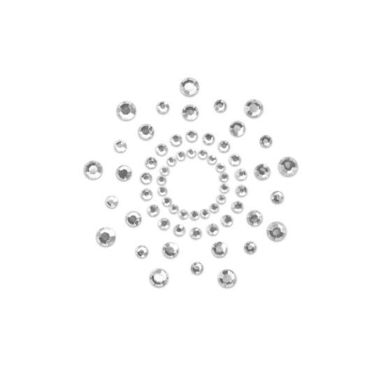 Bimbódísz átlátszó alapon kövekkel - átlátszó/fehér
