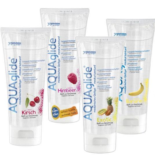 Aqua Glide gyümölcsös síkosítók, 100 ml (egzotikus gyümölcs)