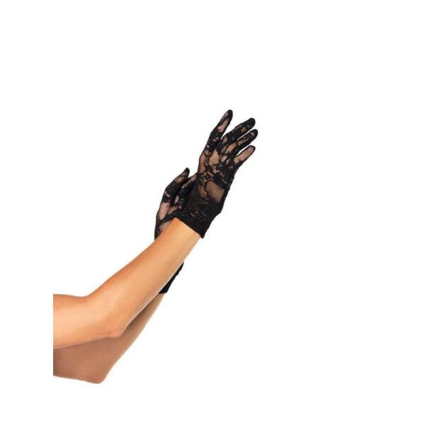 Elegáns csipke kesztyű - fekete