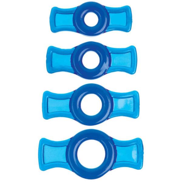 Titanmen 4 db-os péniszgyűrű szett - kék