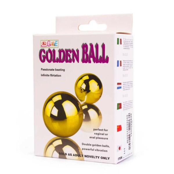 Golden ball vibro dupla gésagolyó - arany