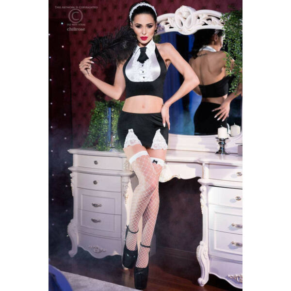 Cr 4224  s/m  black/white maid set 7 pcs