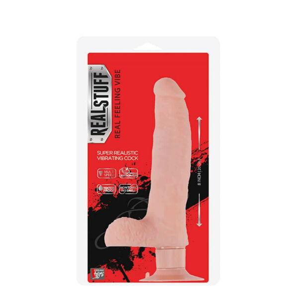 Realstuff 8 inch vibrátor flesh