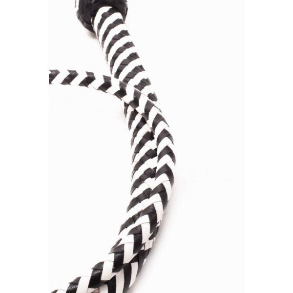 Bőrkorbács heavy handle whip 122 cm
