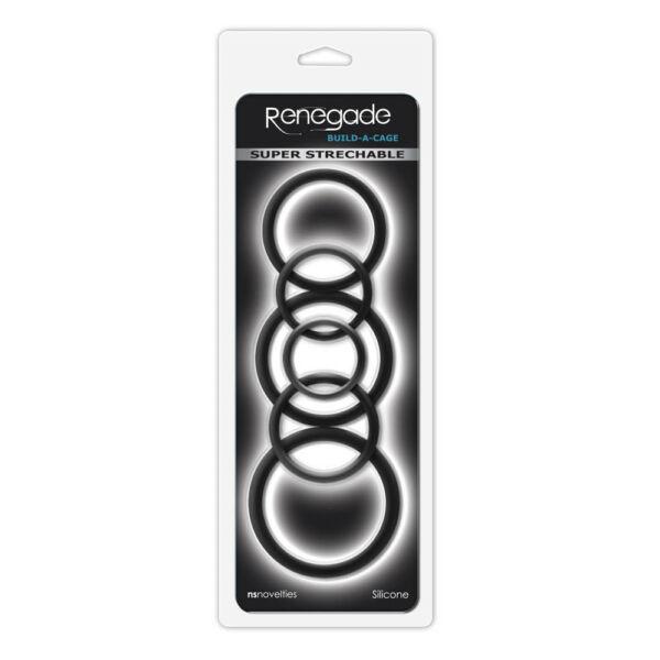 Péniszgyűrű készlet fekete Renegade