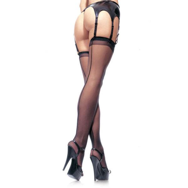 Sheer stockings - red - o/s - hosiery