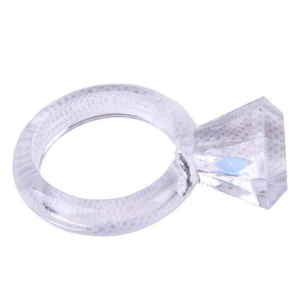 Diamond cock ring clear