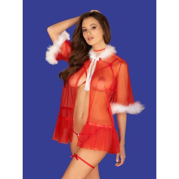 Szexi női ruha Santasia peignoir o/s