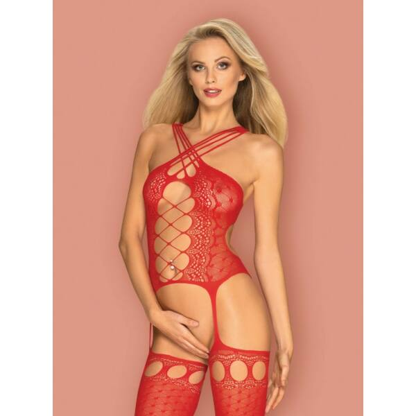 Cicaruha Bodystocking g313 red  s/m/l