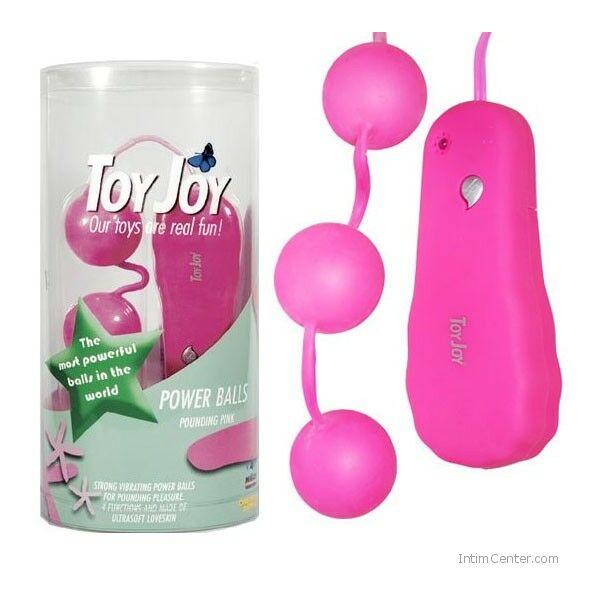 Vibrátoros golyófüzér, rózsaszínű 3 db-os ToyJoy gésagolyók